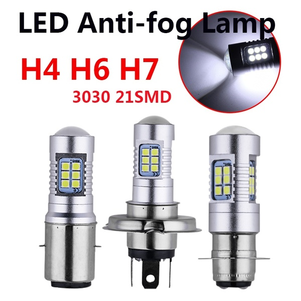 2X H4 Motorcycle 3030 21SMD Led Headlight Head Light Lamp Bulb 1200LM White 2 2M