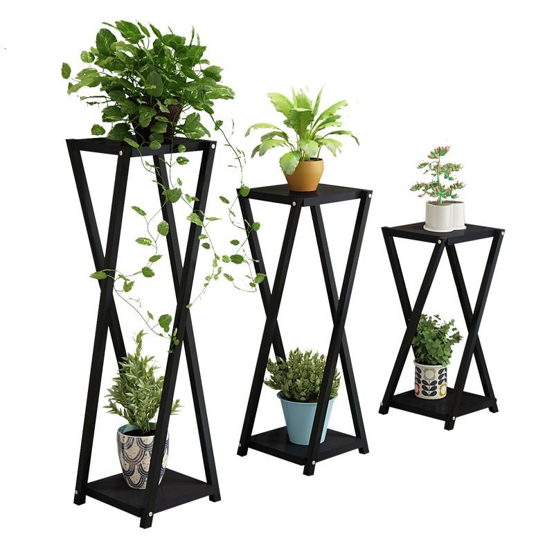 Northern Europe Balcony Flowerpot Shelf Multi-storey Indoor Landing Type  Simple  Easy Flower Rack