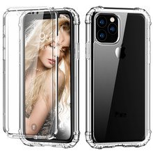 Case for iPhone 11 Pro Max 2019 Built in Screen Protector Full Body Shockproof Dual Layer High Impact Protective Plastic+TPU(China)