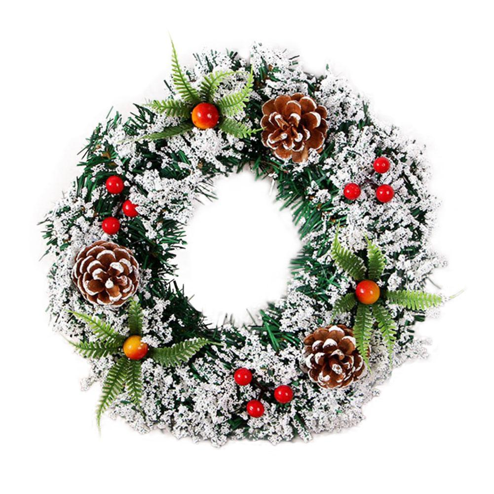 Handmade Christmas Spruce Wreath Christmas Garland For Indoors Outdoors Front Door Trees Decoration Hanging Decoration Ornaments