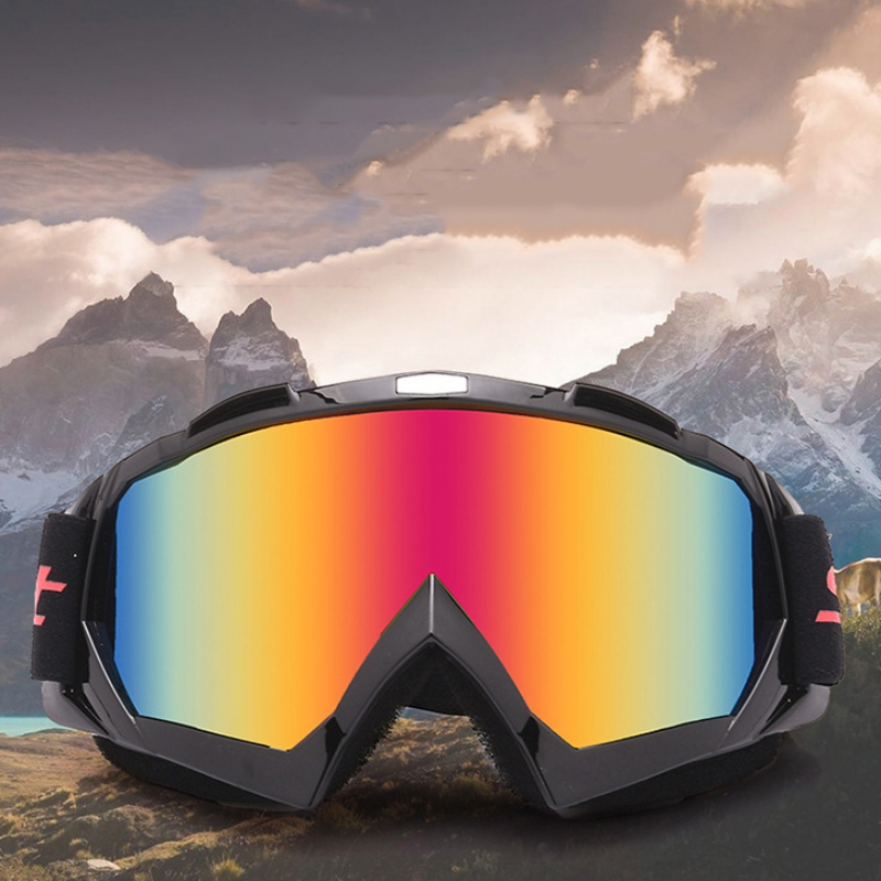 Eyewear Ski Motorcycle Racing Motocross Off-Road Bike ATV Googles Ski Snowboard Glasses For Men Women Colorful Lens