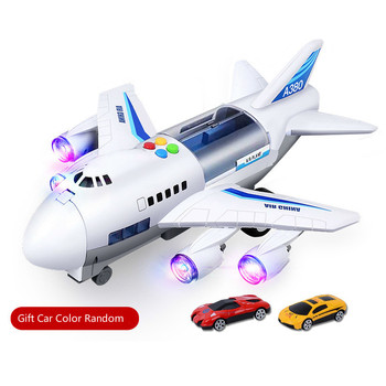 New Plane Kids Airliner Toy CarMusic Story Simulation Track Inertia Children's Toy Aircraft Large Size Passenger Free Gift Map