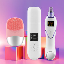 Ultrasonic Skin Scrubber Ultrasonic Facial Cleaner Blackhead Remover Vacuum Electric Face Cleaning Brush Ultrasonic Peeling(China)