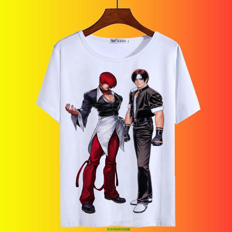 Футболка для костюмированной вечеринки «Король бойцов» KOF кё Кусанаги Iori Yagami, летняя футболка для мужчин и женщин, модная повседневная футб...