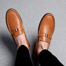 Men Shoes Casual Leather Slip-On Male Driving Loafers Genuine Cow Breathable Comfy Outdoor Walking Flat Non-Slip Zapatillas lightweight men casual shoes fashion men loafers slip on suede leather shoes outdoor non slip walking loafers zapatillas hombre