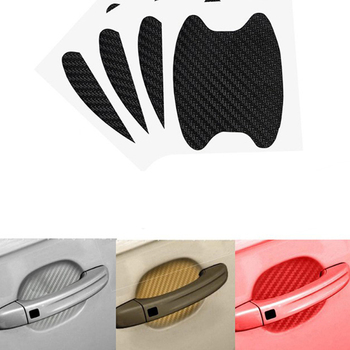 8Pcs Car Handle Protection Film Universal Invisible Car Carbon Fiber Door Handle Sticker Scratches Resistant Sticker Car Styling image
