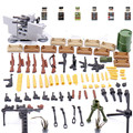 6 шт.  немецкая армия  SWAT  мировая война  2 солдата  военное оружие  оружие  строительные блоки  фигурки  кирпичи  мальчики  развивающие игрушки ...