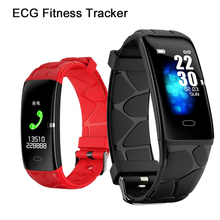 Smart Wristbands E58 Fitness Tracker ECG HRV Heart Rate Monitor Blood Pressure Smart Bracelet Wristband For IOS/Android
