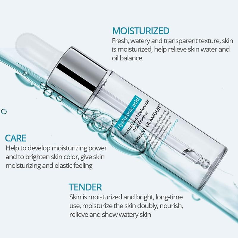 VIBRANT GLAMOR Hyaluronic Acid Serum Moisturizing Essence Face Cream Shrink Pore Skin Care Repair Whitening Anti-Aging Skin Care