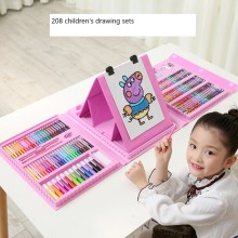 208 brush set children art painting watercolor crayon preferred gift oil pastel brush