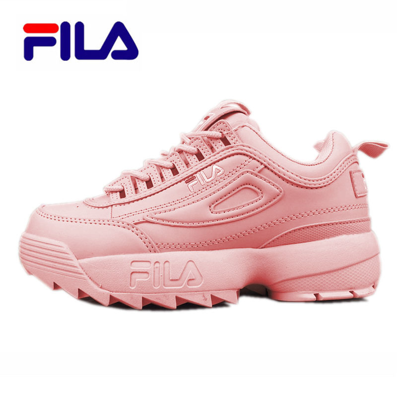 Fila Disruptor II 2 Sneaker Running Shoes Black White Big Sawtooth Thick Bottom Increased Man Low Outdoor Sneakers 39-44