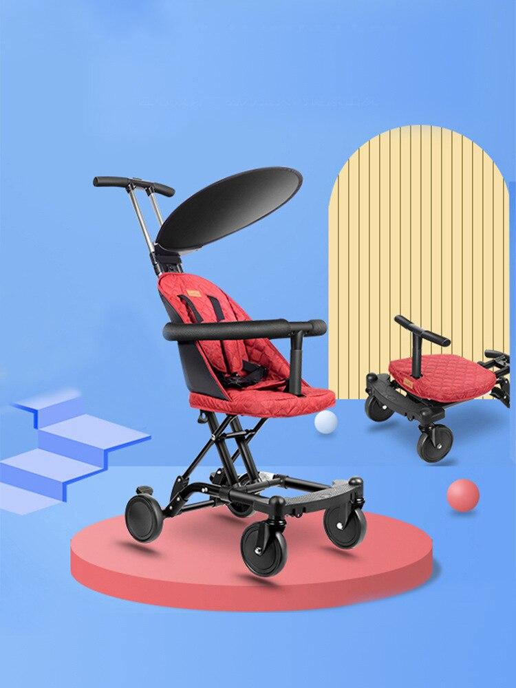 2019 novo carrinho de bebe dobravel luz bebe quatro rodas alta paisagem trole