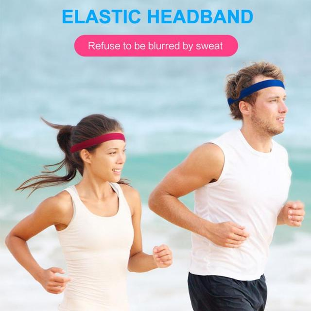 Unisex Sweat Guiding Belt Sports Gym Headband Anti-Slip Breathable Basketball Fitness Yoga Volleyball Cycling Hair Band