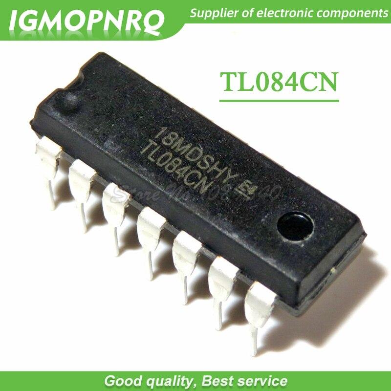 100Pcs TL084CN TL084 DIP-14 Quad JFET-Input Op Amp IC NEW