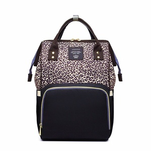 PatPat LEQUEEN Леопардовый Многофункциональный Большой Вместительный рюкзак для подгузников сумка для мамы