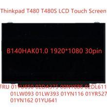 Novo lcd tela de toque b140hak01.0 para lenovo thinkpad t480 t480s 1920*1080 14.0