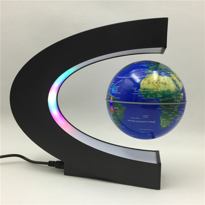 2021 Floating Magnetic levitating Globe Light World Map Levitation Light Office Home Decoration Terrestrial Globe novelty lamp