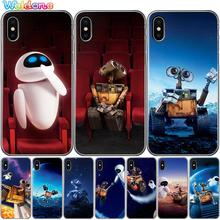 Fashion Cute Wall-E Robot Wall E Cartoon Movie Phone Case Cover For iPhone XS Max XR X 7 6s 8 Plus 5S case cover etui
