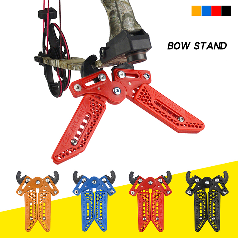 Compound Bow Stand Holder Kick Rack Bracket Archery Exercise Practice Equipment