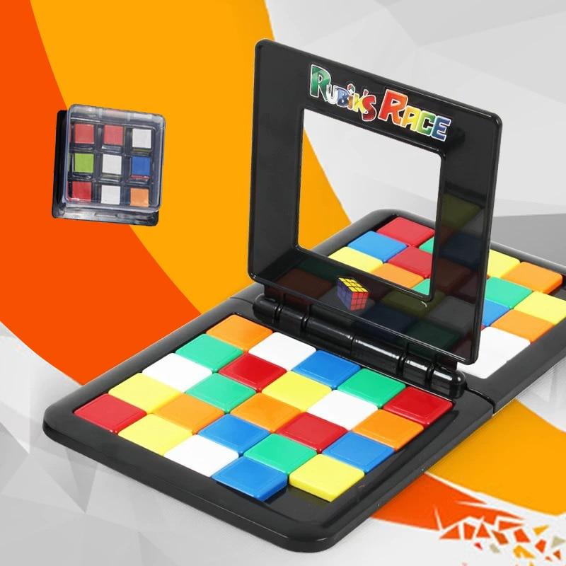Parent-Child Interactive Colorful Battle Sport Game Puzzle Cube 3D Puzzle Race Cube Kids Adults Desktop Education Toy