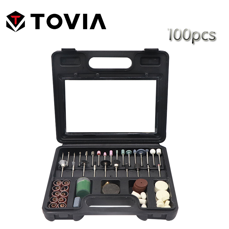 TOVIA 100pcs Grinding Polishing Accessories Set Dremel Rotary Tool Accessory Set Fits For Dremel Drill Grinding Polishing Dremel