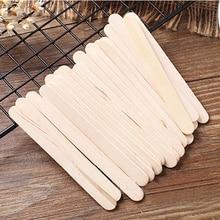 50 шт. деревянные палочки для мороженого из натурального дерева, палочки для мороженого для детей, Рукоделие, сделай сам, палочки для мороженого, инструменты, кухонные аксессуары