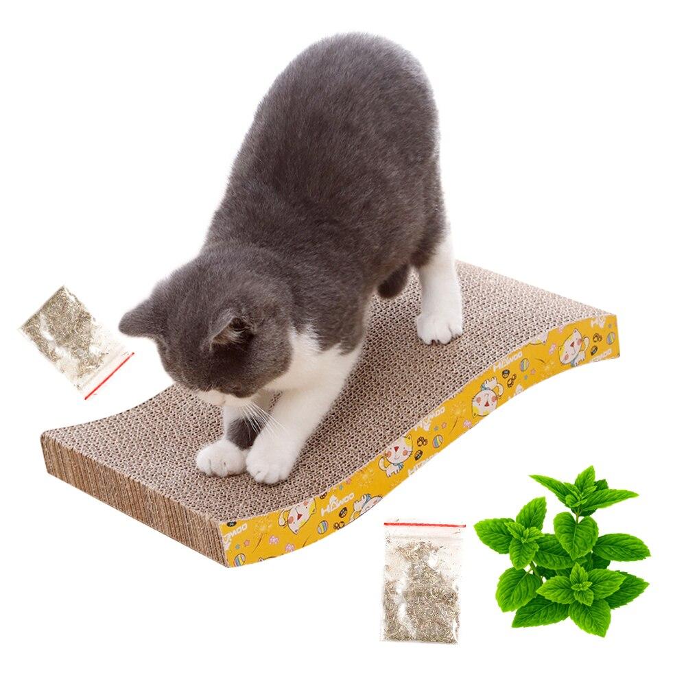 Interactive Toy Cat Scratching Corrugated Board Grinding Claw Plate Catnip Paper Pad For Cat Scratchers Cats Toy Scraper Mat 44