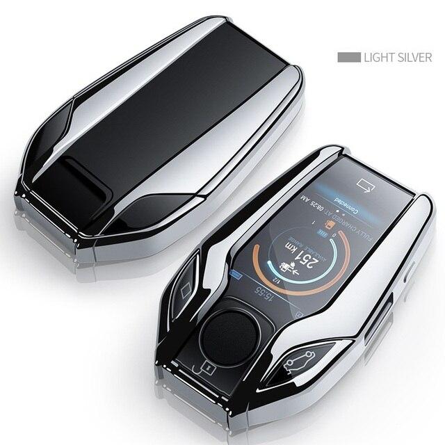 TPU Car Fully Key Case LED Display Key Cover Case for BMW 5 7 series G11 G12 G30 G31 G32 i8 I12 I15 G01 X3 G02 X4 G05 X5 G07 X7