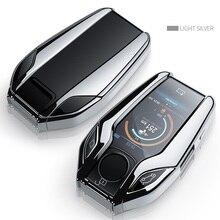 TPU Completamente Chiave Caso di Display A LED Caso Della Copertura Chiave per BMW 5 serie 7 G11 G12 G30 G31 G32 i8 I12 I15 G01 X3 G02 X4 G05 X5 G07 X7