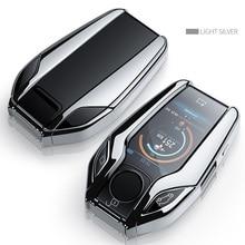 TPU Voiture Entièrement Clé LED Affichage Etui Clés Pour BMW 5 série 7 G11 G12 G30 G31 G32 i8 I12 I15 G01 X3 G02 X4 G05 X5 G07 X7