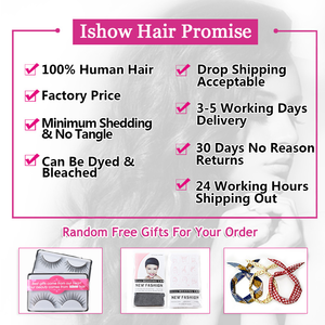 Image 5 - Ishow ผมบราซิลหลวมคลื่น 100% Human Hair Bundles ซื้อ 3 หรือ 4 กลุ่มแถมฟรีของขวัญบราซิลผมสาน