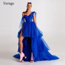 Verngo Элегантное синее Тюлевое платье трапециевидной формы