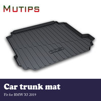 Mutips 1Set Car Cargo rear trunk mat For BMW X5 G05 2019 Car styling Anti slip mat Waterproof carpet Boot Liner Tray Accessories