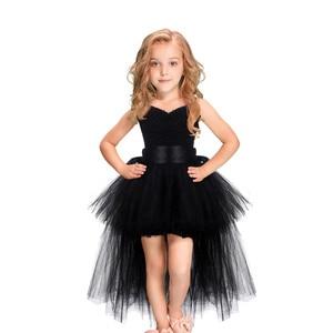 Image 2 - Halloween Unicorn Princess Dress Birthday Party Cosplay Angel Dresses Children Mesh Tutu Skirt Pink Lace Sling Costume for Girls