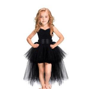 Image 2 - Weihnachten Einhorn Prinzessin Kleid Purim Geburtstag Party Cosplay Engel Kinder Mesh Tutu Rock Rosa Spitze Sling Kostüm für Mädchen