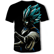 Dragon Ball Z T Shirts Mens Summer Fashion 3D Print Super Saiyajin Son Goku Black Zamasu Vegeta T-shirt Tops