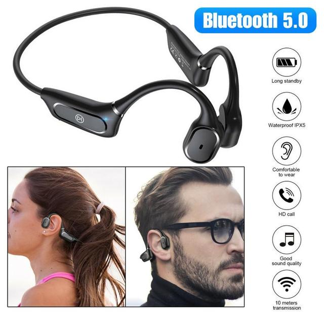 H11 Bone Conduction Bluetooth Headset IPX5 Waterproof Hanging Ear Sports Bluetooth Headset For IOS And Android Devices Dropship