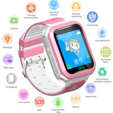 GEJIAN IP67 Waterproof Children's Watch 2G Remote Camera GPS Real-Time Positioning Student Watch SOS Call Monitoring Tracker(China)