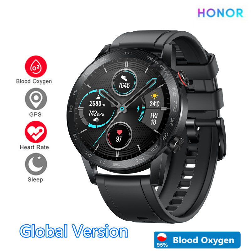 Global Version Huawei Honor <font><b>Watch</b></font> Magic 2 <font><b>Smart</b></font> <font><b>Watch</b></font> GPS 42/46mm Sports Waterproof Blood Oxygen <font><b>Bluetooth</b></font> Indie Music Playback image