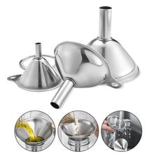 Stainless Steel Funnel 3 Pieces Mini Oil Wine Integrated Liquid Dispenser Kichen Accessories Multifunctional Practical
