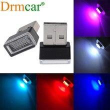 USB LED atmosphère ampoule lampe décorative lecture d'urgence veilleuses voiture porte lumière PC Portable Plug Play rouge bleu blanc rose