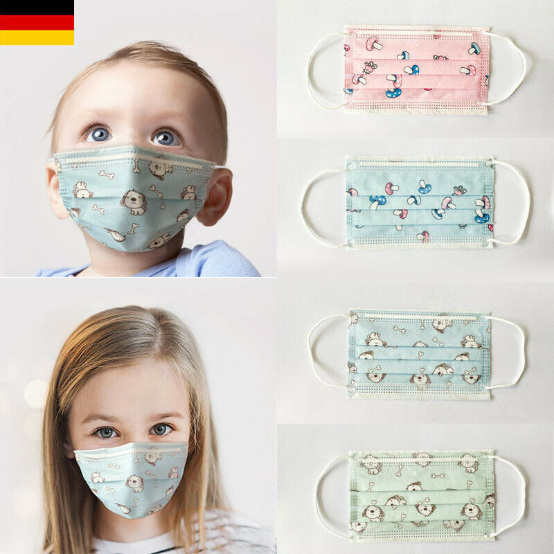 10PCS Disposable children mask Cartoon Pattern Face Mask Mouth Masks+filter 3-Layers Anti Dust Cover Kids Baby PM2.5 Respirator 1
