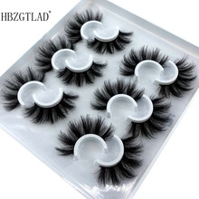 2/4/6 pares 10-25mm cílios falsos 100% vison cílios vison volume dramático natural cílios extensão cílios postiços