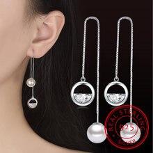 Новые Подвески блестящие серебряные серьги подвески с цирконием