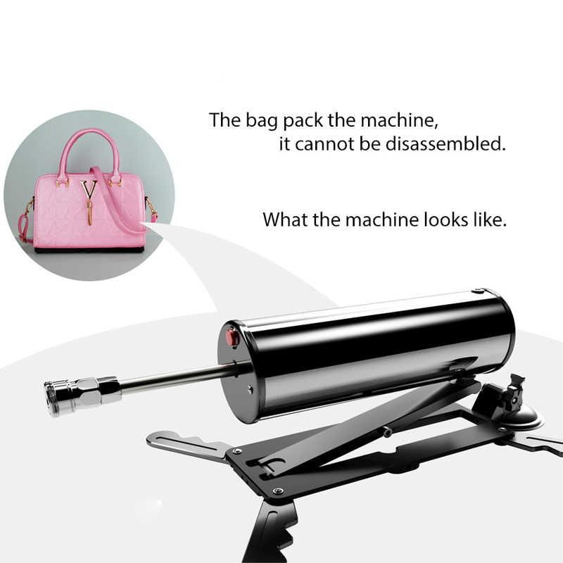 New Arrival automatyczny seks maszyna torba damski masturbator z dużym Dildo wibrator Fuckmachine Sex Dildo Machine Gun Sex zabawki