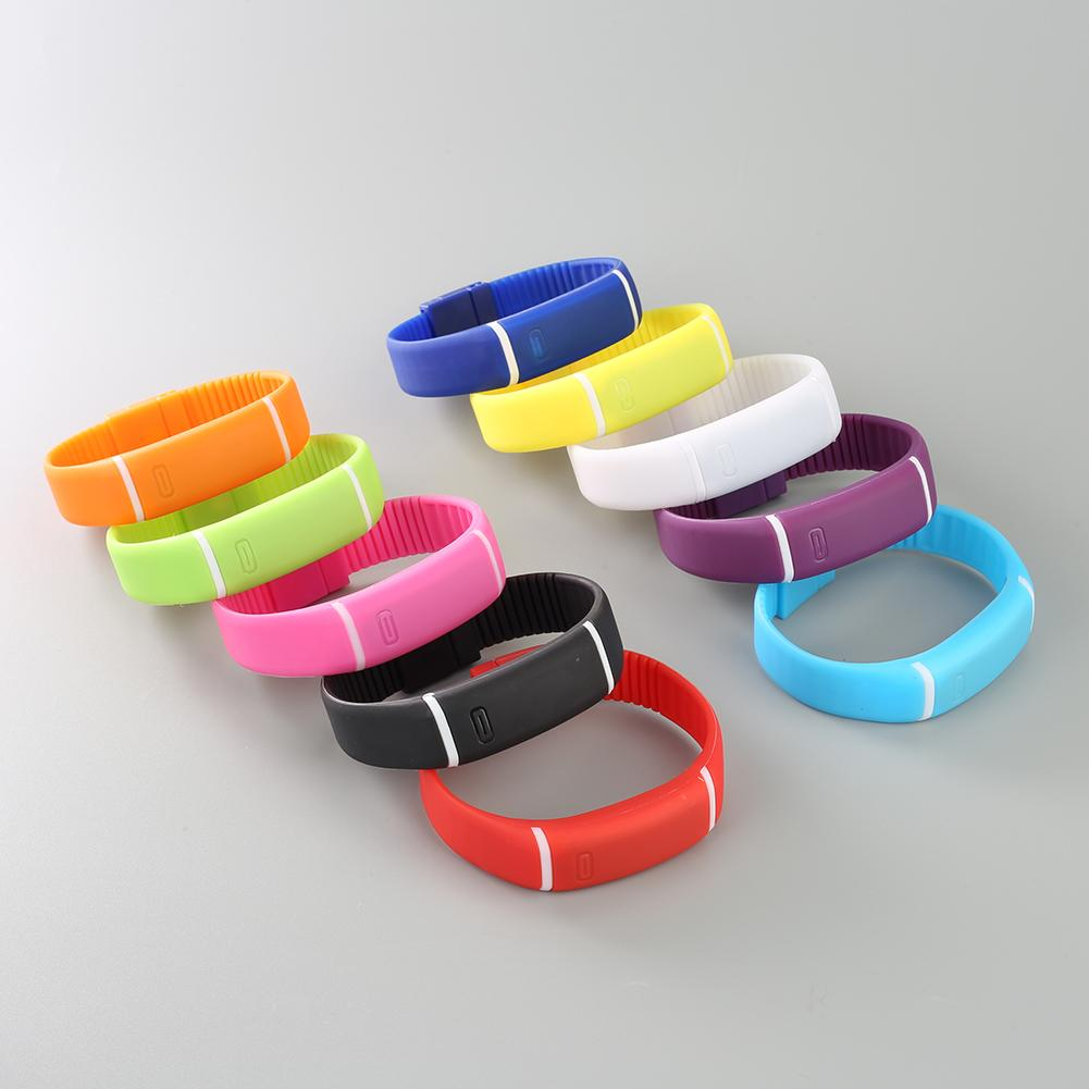 Unisex Kids Fashion Pure Color Lovely LED Silicone Sport Casual Digital Wrist Watch
