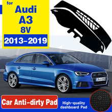 Anti-Slip Mat Dashboard Cover Pad Sunshade Dashmat Carpet Anti-UV Protect Car Accessories S-Line For Audi A3 8V 2013~2019(China)