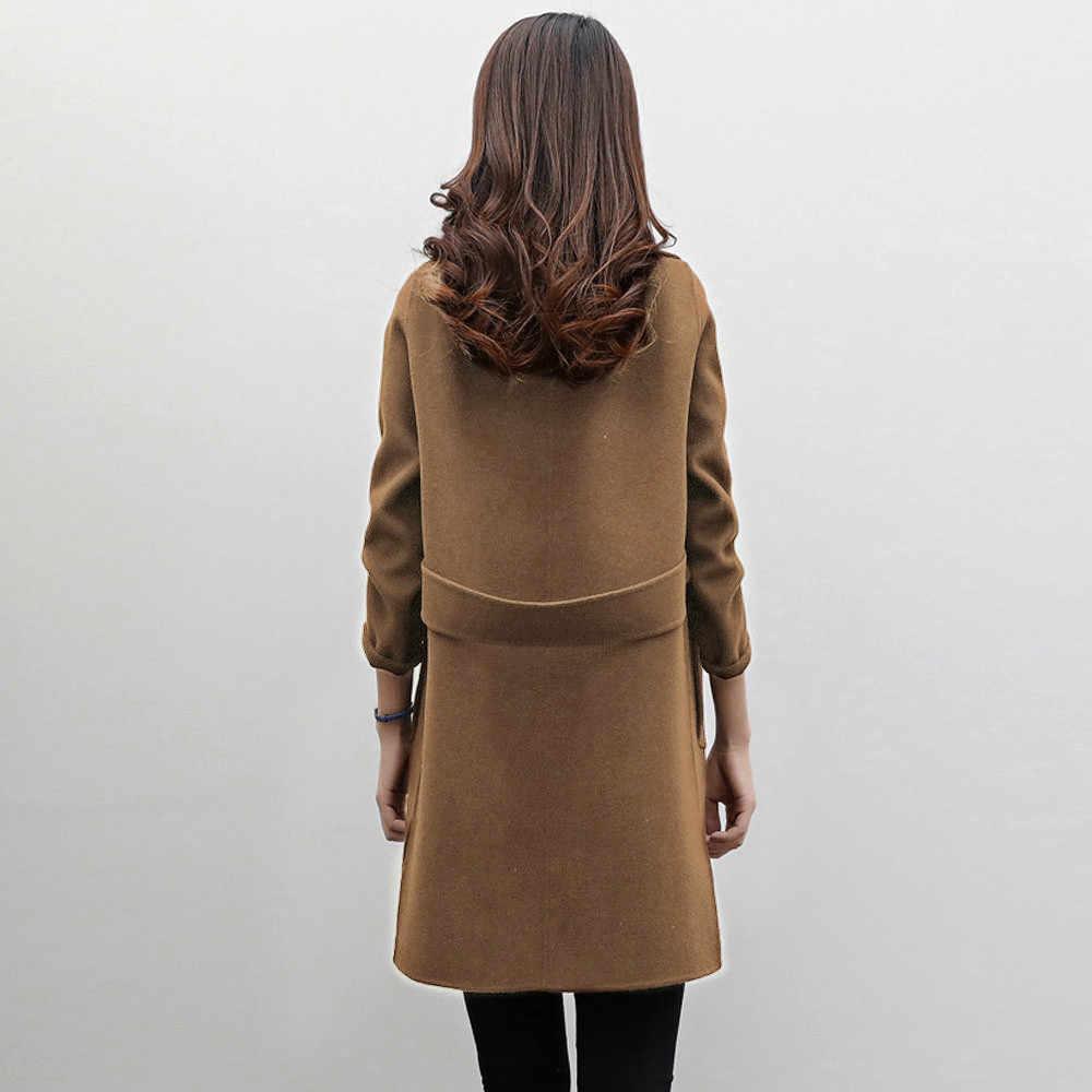 Frauen Herbst Winter Jacke Casual Outwear Parka Strickjacke Dünner Mantel Mantel Dünne Art Weibliche Winter Wolle Jacken Weibliche Outw
