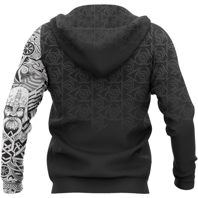 Viking Odin  - 3D Printed Fashion Hooded Sweatshirt 4