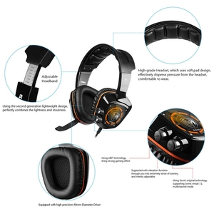 Image 5 - SOMiC G910 USB 7.1 Surround Sound Gaming Headset with Mic LED light Smart Vibration Over ear PC Headphone for PS4